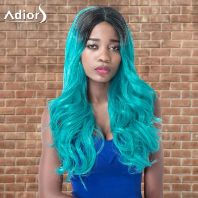 Adiors Long Centre Parting Wavy Ombre Cosplay Synthetic Wig