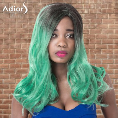 Adiors Long Side Parting Wavy Ombre Cosplay Synthetic Wig