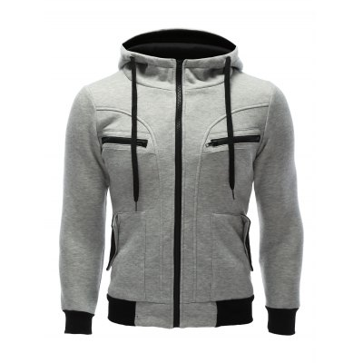 Multi Zipper Patchwork Hoodie with Pockets