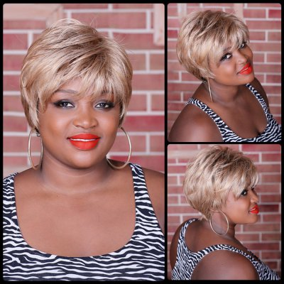 Short Neat Bang Straight Synthetic Wig