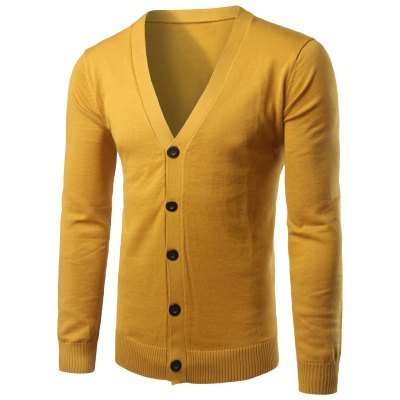 Button Up V Neck Cardigan