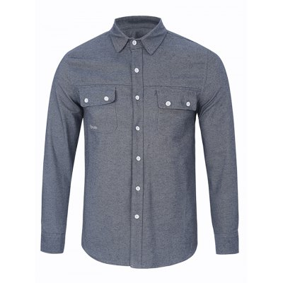 Long Sleeve Chest Pocket Button Up Shirt