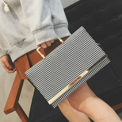 Gien Check Pattern Colour Block Tote Bag