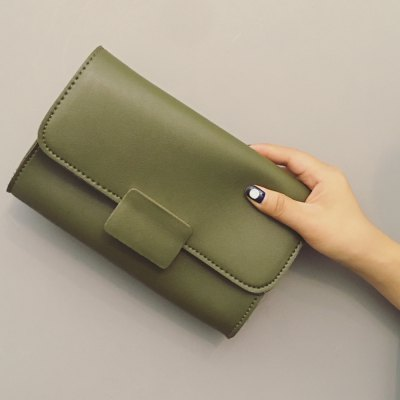 Stitching PU Leather Clucth Bag