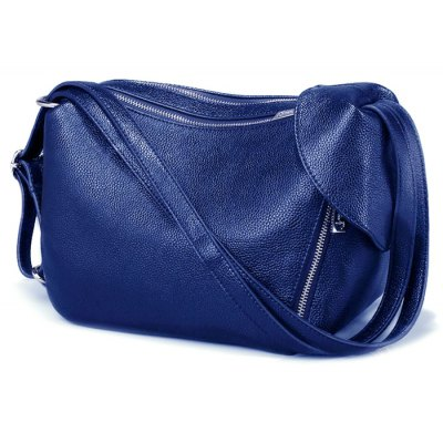 Convertible Textured Faux Leather Shoulder Bag