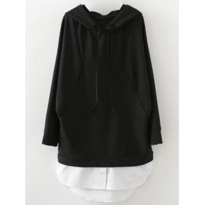 Pullover Patchwork Hoodie