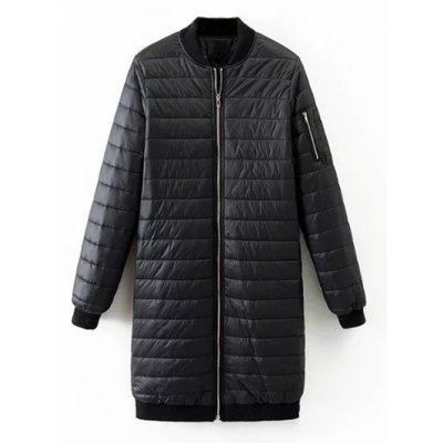 Quilted Zip Up Coat