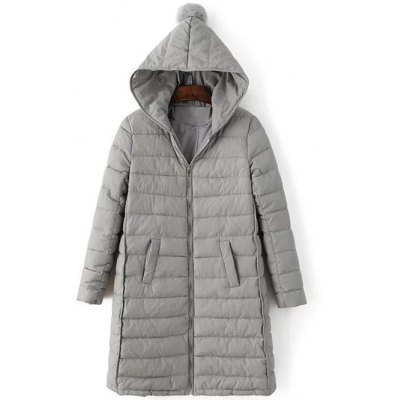 Hooded Slmi Fit Quilted Jacket