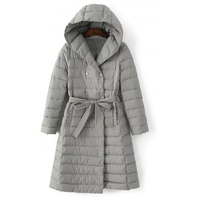 Belted Hooded Padded Coat