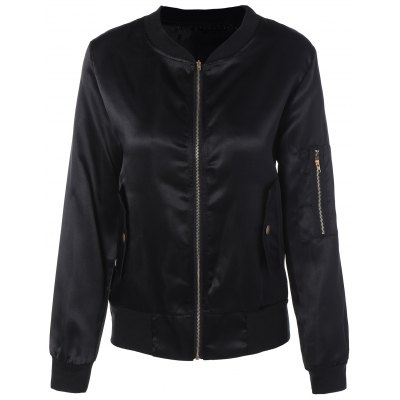 Zip Up Slim Jacket