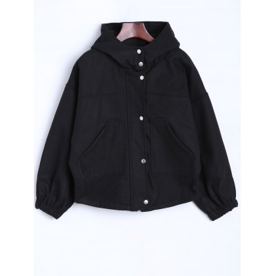 Loose Fit Hooded Jacket