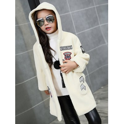 Hooded Patch Long Coat