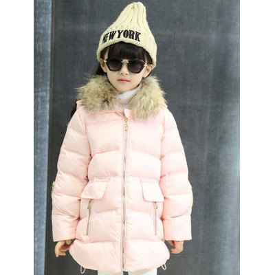 Faux Fur Trim Hooded Padded Coat