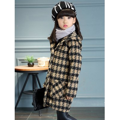 Girls Hooded Plaid Long Wool CoatGirls Clothing<br>Girls Hooded Plaid Long Wool Coat<br><br>Clothes Type: Wool &amp; Blends<br>Material: Polyester<br>Type: Wide-waisted<br>Clothing Length: Long<br>Sleeve Length: Full<br>Collar: Hooded<br>Pattern Type: Plaid<br>Embellishment: Pockets<br>Style: Fashion<br>With Belt: No<br>Weight: 0.607kg<br>Package Contents: 1 x Coat