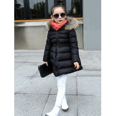 Faux-Fur Trim Hooded CoatGirls Clothing<br>Faux-Fur Trim Hooded Coat<br><br>Clothes Type: Padded<br>Material: Cotton,Polyester<br>Type: A-Line<br>Clothing Length: Long<br>Sleeve Length: Full<br>Collar: Hooded<br>Closure Type: Zipper<br>Pattern Type: Solid<br>Embellishment: Fur<br>Style: Casual<br>Weight: 0.634kg<br>Package Contents: 1 x Coat