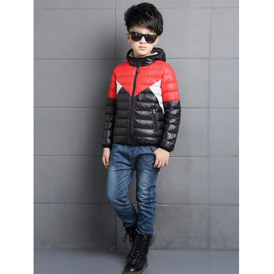 Color Block Puffer JacketBoys Clothing<br>Color Block Puffer Jacket<br><br>Clothes Type: Jackets<br>Material: Cotton Blends,Polyester<br>Collar: Hooded<br>Closure Type: Zipper<br>Clothing Length: Regular<br>Style: Fashion<br>Sleeve Length: Long Sleeves<br>Season: Winter<br>Weight: 0.223kg<br>Package Contents: 1 x Jacket