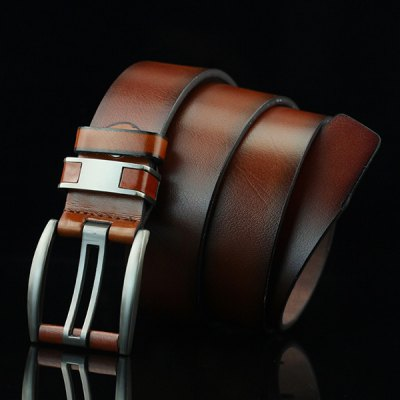Brief Hollow Out Pin Buckle PU Wide Belt