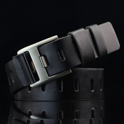 Brief Hollow Out Wide Hole PU Belt