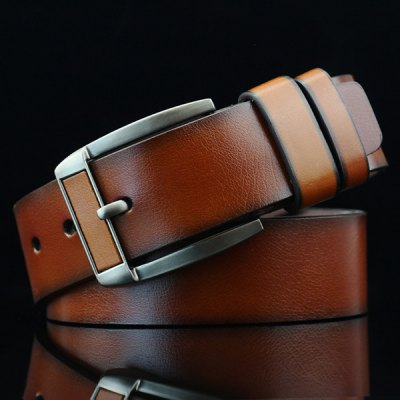 Brief Retro Pin Buckle PU Belt
