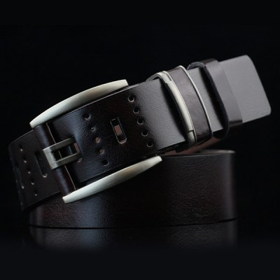 Brief Hollow Out Small Hole Roller Buckle PU Belt