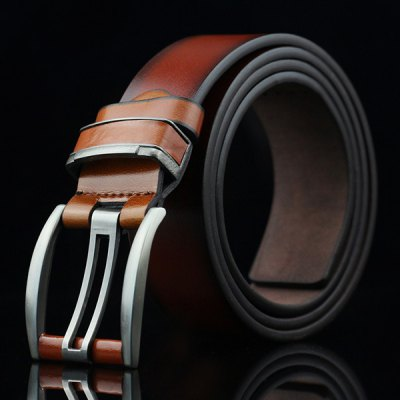 Brief Hollow Out Small Hole Pin Buckle PU Belt