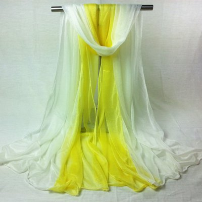 Double Color Chiffon Long Scarf