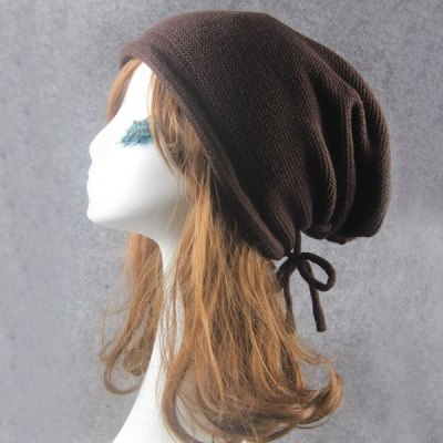 Knitted Drawstring BeanieWomens Hats<br>Knitted Drawstring Beanie<br><br>Hat Type: Skullies Beanie<br>Group: Adult<br>Gender: For Women<br>Style: Fashion<br>Pattern Type: Solid<br>Material: Acrylic<br>Circumference (CM): 57CM<br>Weight: 0.220kg<br>Package Contents: 1 x Hat
