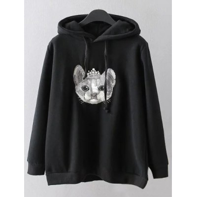 Cartoon Embroidered Hoodie