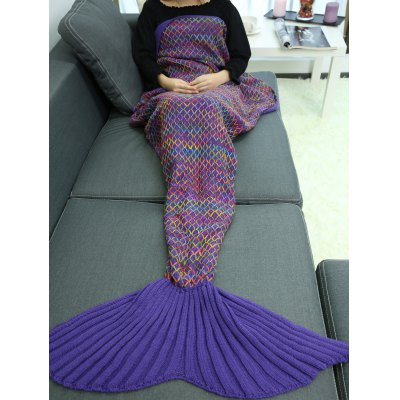Knitted Sofa Mermaid Tail Blanket