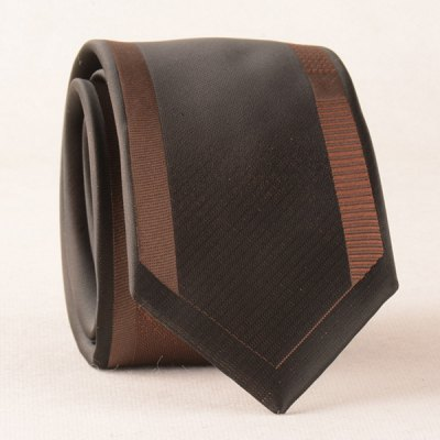 Casual Stripe Edge Polyester Neck Tie