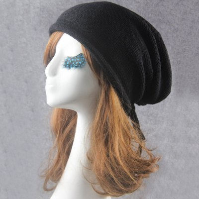Knitted Drawstring Beanie