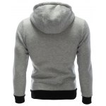 Zipper Embellished Patchwork Hoodie with Pockets deal