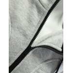 Zipper Embellished Patchwork Hoodie with Pockets photo