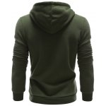 Color Splicing PU Leather Embellished Hoodie deal