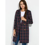 cheap Grid Vintage Pea Coat