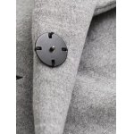Letter Embroidered Wool Coat With Pocket photo