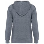 cheap Zipped Drawstring Slim Hoodie