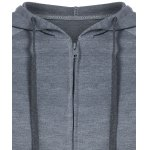 Zipped Drawstring Slim Hoodie deal
