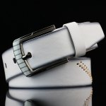 Pin Buckle Sewing Thread Wide Belt