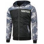 Camo Insert Hooded Zip Up Padded Jacket