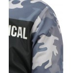 Camo Insert Hooded Zip Up Padded Jacket for sale