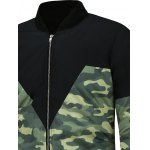 Camo Graphic Zip Up Padded Jacket deal