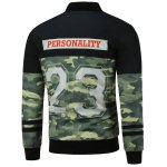 cheap Camo Graphic Zip Up Padded Jacket