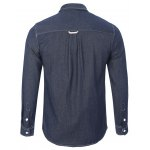 Back Pleated Pocket Chambray Button Down Shirt deal