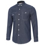 cheap Back Pleated Pocket Chambray Button Down Shirt