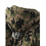 Camouflage Hooded Woolen Jacket for sale