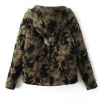cheap Camouflage Hooded Woolen Jacket
