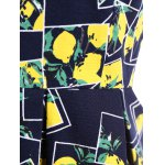 Lemon Print Fit and Flare Dress for sale
