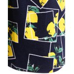 best Lemon Print Fit and Flare Dress