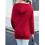 cheap Letter Embroidered Kangaroo Pocket Hoodie